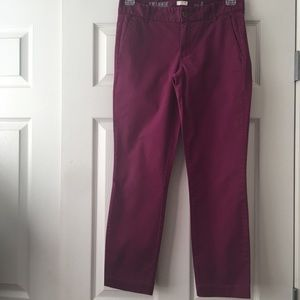 J. Crew Frankie Purple Pants Size 4